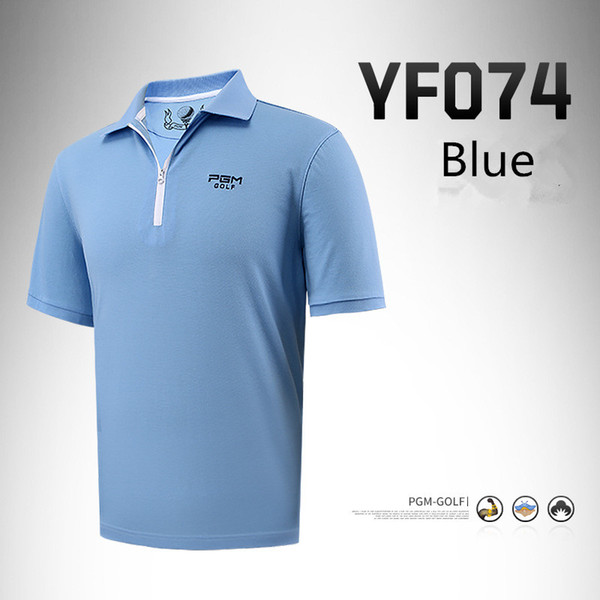 best selling PGM men's golf Sportswear summer short-sleeved T-shirt breathable quick-drying golf T-shirt mercerized coon clothing M-2XL