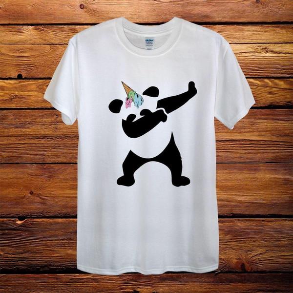 Dabbing Panda Ice Cream Unicorn Top Design T-Shirt Men Unisex Women Fitted Gift