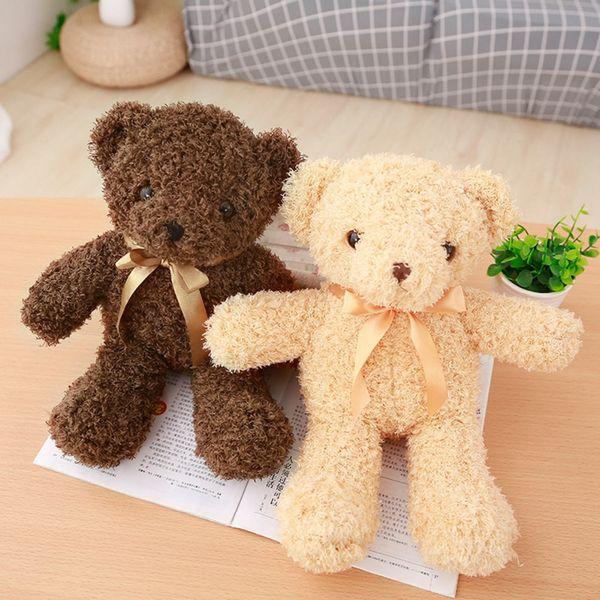 30/35cm Dorp shipping Cute brown Teddy bear Plush Toy Stuffed Animal bear Dolls Kids Baby Children Birthday girl Valentine Gift