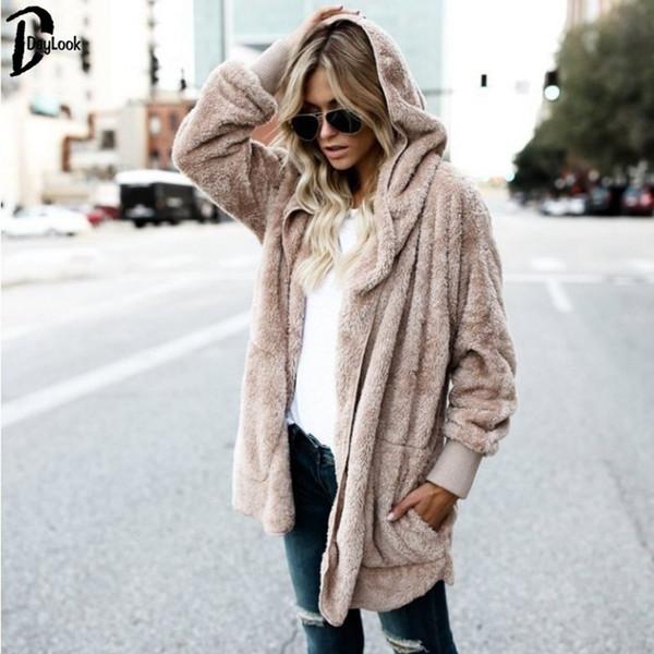 Outwears Damen Chic Lange Mantel Xxxl Herbst Streetwear Flauschig Jacke Großhandel Daylook Warme Taschen Winter Lose Strickjacke S 2018 Von Übergroße 8OP0wknX