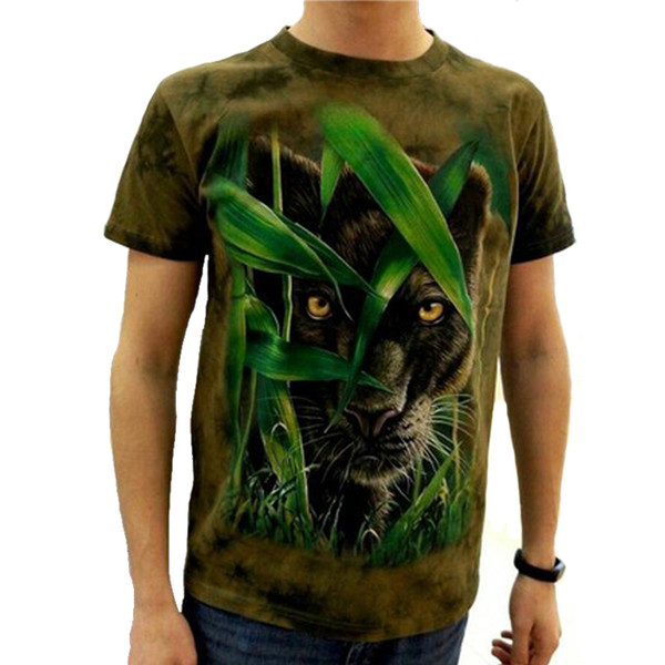 Wholesale-2017 3d T-shirt brand Animal Printed Cool men Tie Dye T Shirt 100% Cotton Short Sleeve fitness Hip Hop O-Neck Tee-shirt homme