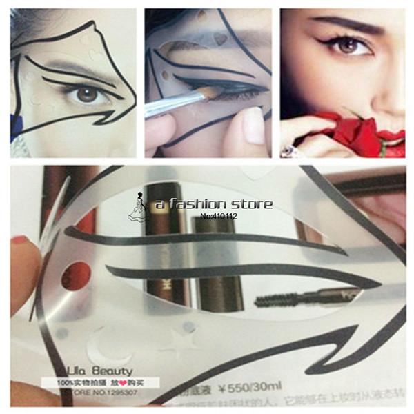 1 pc Super Cat Eyeliner Stencil 7 modèle pour Classic Cat Eye Nude Maquillage Ombre Modèle Eye Liner Maquillage Un Guide Kit De Carte De Bricolage