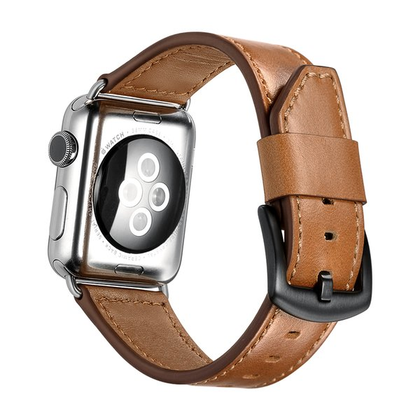 Blade Style Watchband for Apple Watch band 38mm 42mm Genuine Leather for Iwatch Series 1 2 3 4 Strap Bracelet belt