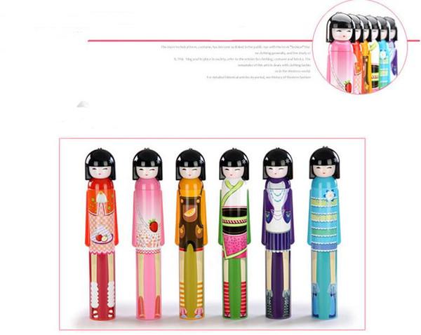 20pcs/Lot Wine Bottle Umbrella Japanese Girl Doll Cartoon Umbrella 3-Folding Umbrella SN714