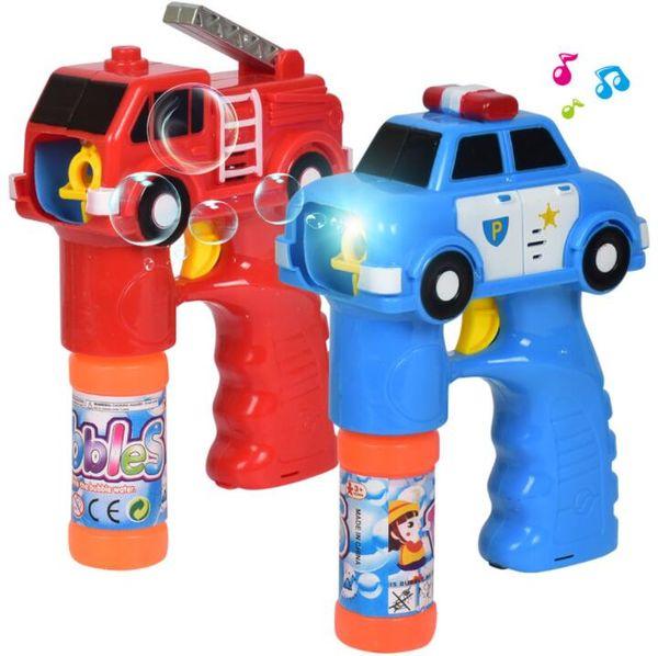 2018 New Automatic Electric Toy Car Soap Blow Bubbles Gun Machine Music Light Water Gun Kids Game Bubble(no bubble bottle )