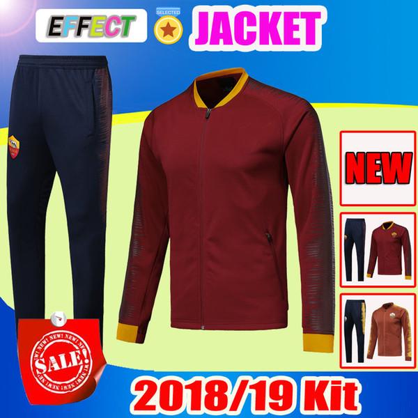 2018 2019 Rome Football jacket tracksuit kits 18 19 TOTTI de foot DE ROSSI DZEKO PEROTTI EL SHAARAWY soccer jacket Training suit