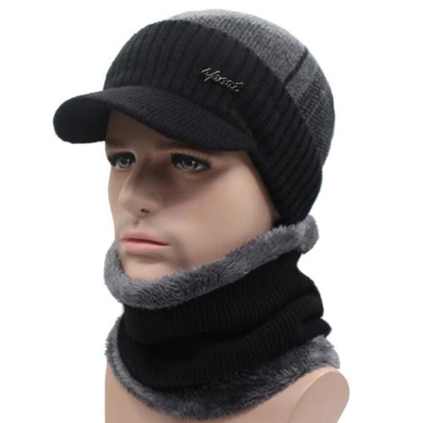 Winter Hats Beanies Hat Winter Beanies For Men Women Wool Scarf Caps  Balaclava Mask Gorras Bonnet 181e9a5a4751