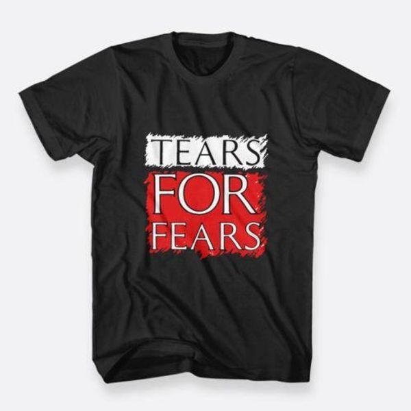 Tears For Fears Pop 1981 Banda S-3XL Color Negro Tees Camiseta hombre