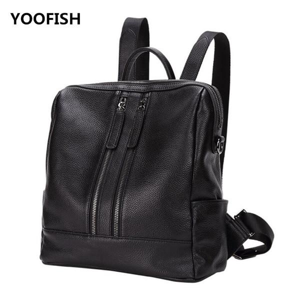 Three colour Genuine Leather fashion Elegant atmosphere Black/Wine red/Dark blue Travel Bag Preppy Style handbag shoulder bag.