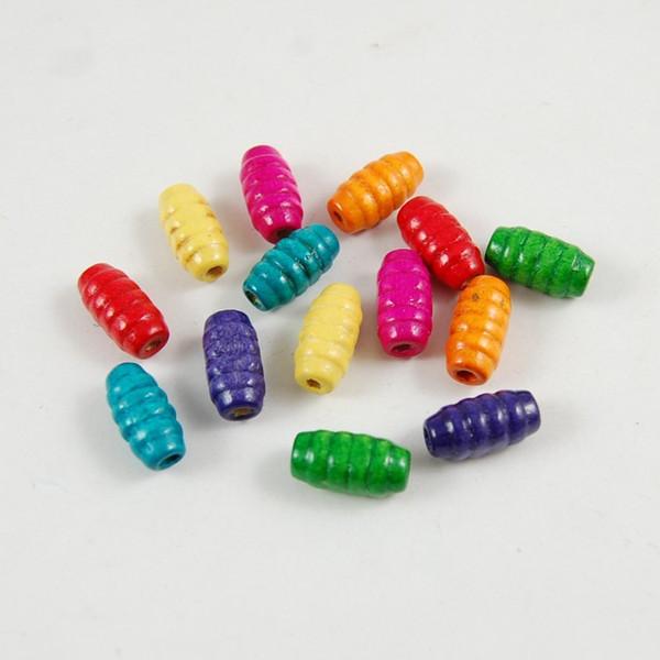 best selling 100pcs stripe Wood Beads Lot Craft Kids Jewelry Making 15MM
