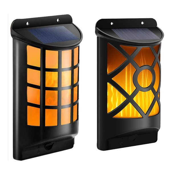 DHL shipping Solar Lights Outdoor Waterproof Dancing Flickering Flames Torches Lights Landscape Decoration Lighting Dusk to Dawn Auto On/Off