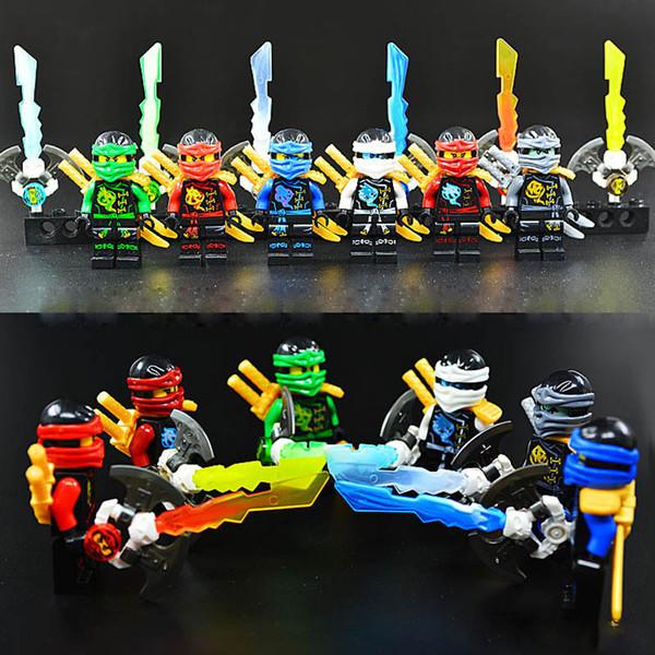 Sky Pirate Ninja with Weapon Zane Nya Kai Lloyd Cole Nya with Skybound Djinn Blade Sword Mini Building Block Toy Figure Decool 10023-10028