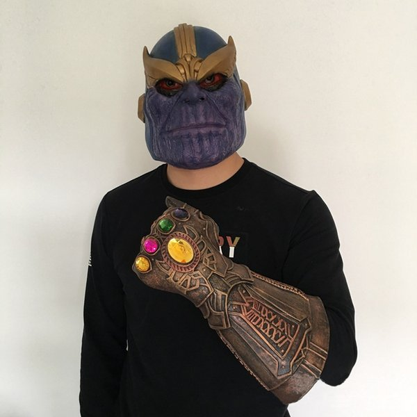 Infinity War Infinity Gaunt Cosplay Thanos Mask The Avengers Thanos Latex Gloves