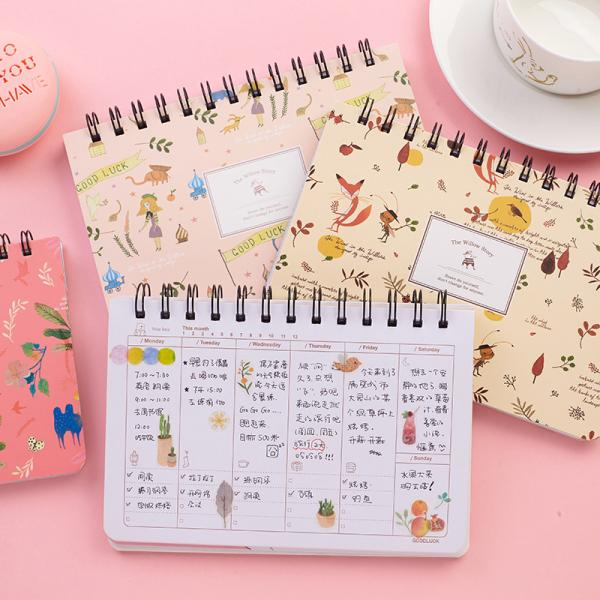 Weekly Plan Not58 Sheets Creative Cute Student DIY Diary Not Travel Journal Gift Planners School Office Supplies