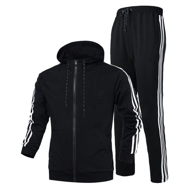 2018 Marka Tasarımcısı Eşofman Bahar Sonbahar Rahat Unisex Spor Takım Elbise Higt Kalite Hoodies Spor Artı boyutu S-3XL