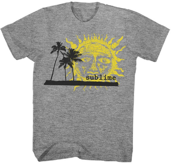 Sublime-Palm Trees e Sun-X-Large T-shirt grigio melange