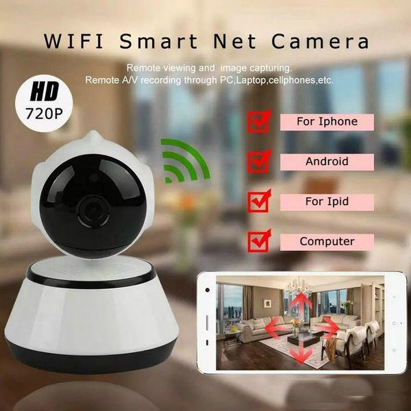 V380 HD 720 P IP Kamera WiFi Kablosuz Akıllı Güvenlik Kamera Mikro SD Ağ Dönebilen Defender Ev Telecam HD CCTV IOS PC OM-S4