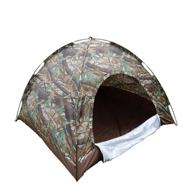 FIRECLUB Outdoor Portable Single Layer Camping Tent Wigwam Camouflage 3-4 Person Waterproof Lightweight Beach Fishing Hunting