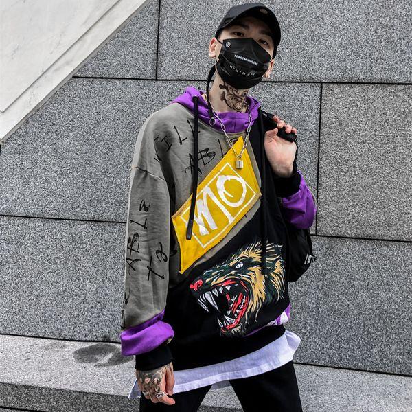 100%Cotton Scrawl Hoody Oversize Sweatshirts Hip-hop Style Swag Tyga Hoodie Autumn Hoodies