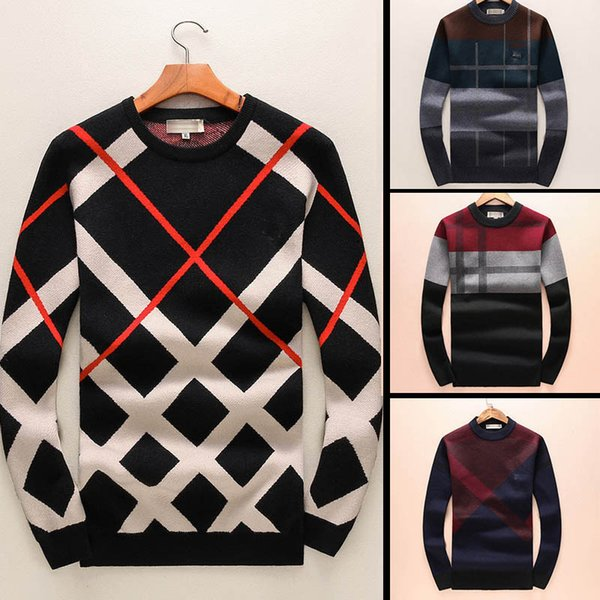 top popular 2018 New Latest Designer Autumn Winter Mens Sweater classic Pullover Men Brand With Long Sleeve Crew Neck men Clothing 2019