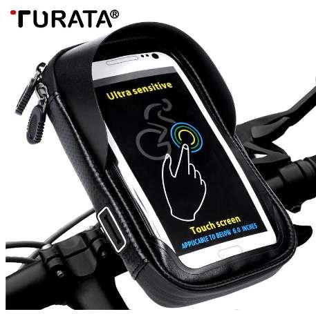 TURATA 6.0 inch Bike Bicycle Waterproof Cell Phone Bag Holder Motorcycle Mount for Samsung galaxy S8 Plus/iPhone 7 Plus/LG V20