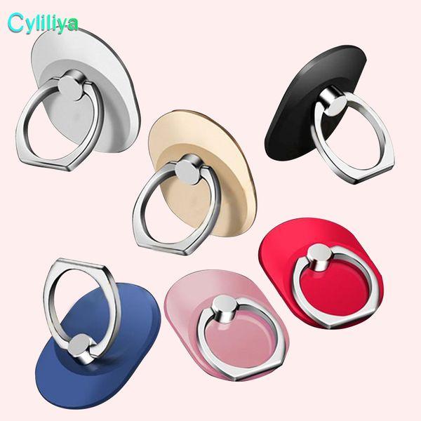 best selling Finger Ring cell Phone Ring Holder Bracket Metal Lazy Ring Buckle Mobile Phone Bracket 360 Degree Stand Holder For universal mobile Phone
