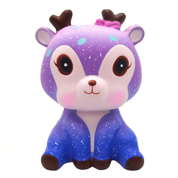 2018 Brand New Sika Deer Slow Rising Squishy Toys Squeeze Kawaii Squishies Cervus Nippon Animals Phone Strap DHL Free Shipping