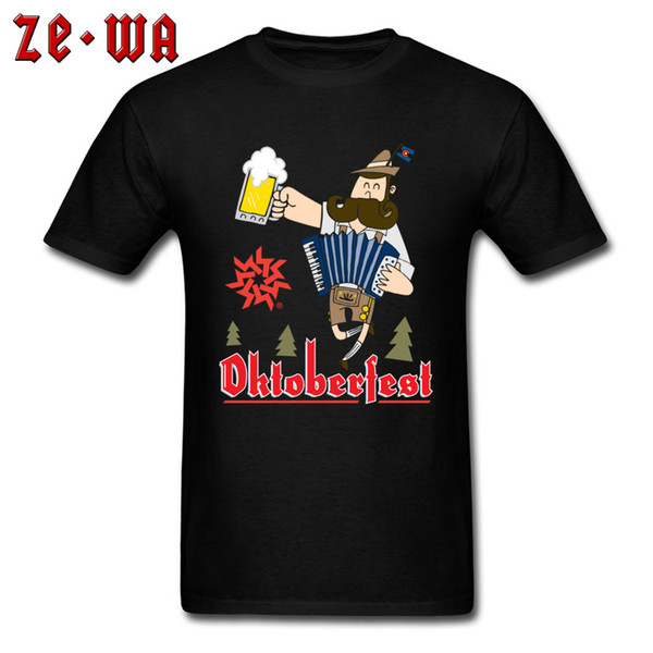 Funny T-shirt Oktoberfest Men T Shirts Beer Lover Gift Clothes Plus Size Male Cartoon Tshirt Cotton Black Tops & Tees Wholesale