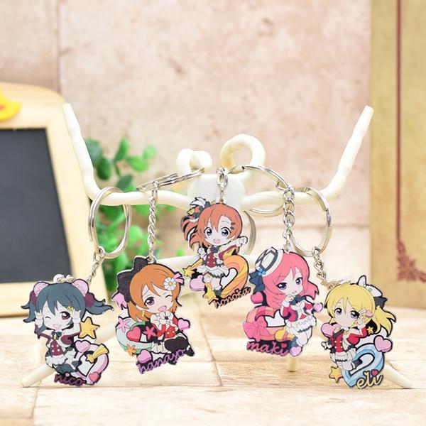 Love Live Acrylic Keychain Chibi Pendant Car Key Chain Key Accessories Cute Japanese Cartoon Ring XS-2