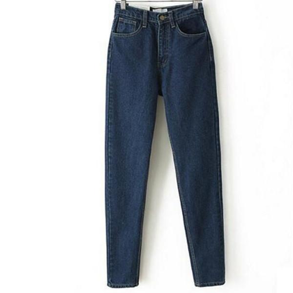 Coton Denim Jeans Femmes Europe et Le Nouveau Dongyu Zhou avec Retro Taille Haute Jeans Crayon Pantalon Haren Jeans Élastique