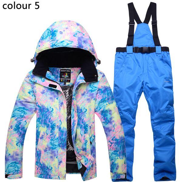 2018 high quality ski jacket pants snow warm waterproof windproof winter ski suit suit female outdoor skiing jacket + pants