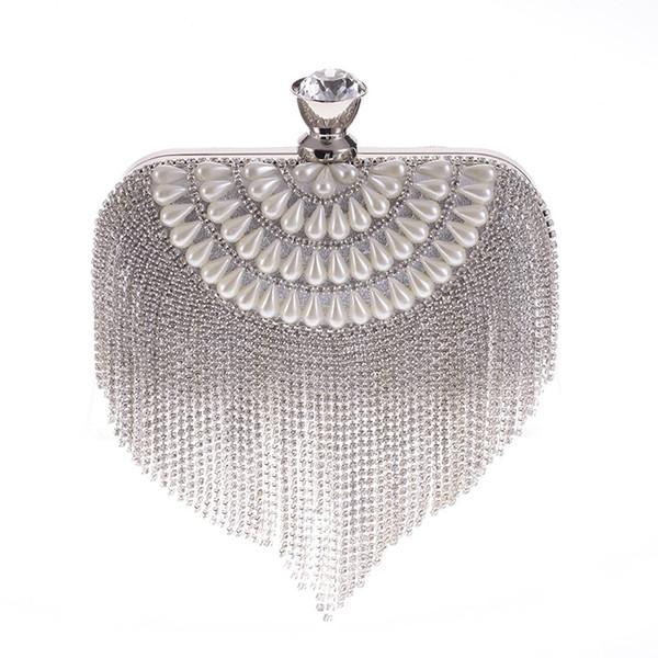 Tassel Peals Evening Clutch Bags Designer Handbag Chain Clutches Women Wedding Hand Bag Purses And Handbags XST-B0119