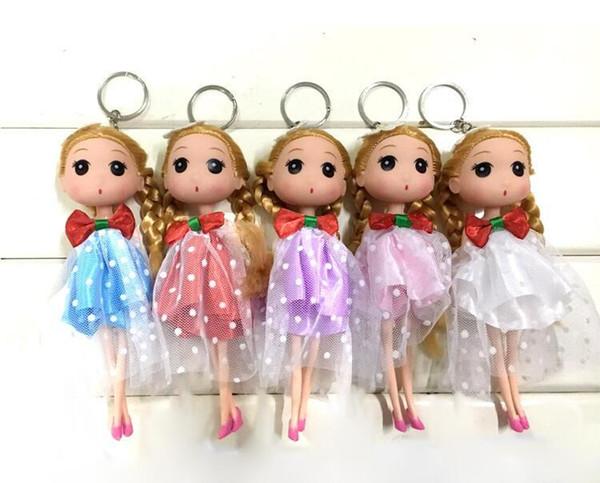 Barbie doll 18cm Korean girl wedding confused doll wedding doll married bride key chain pendant creative gift wholesale