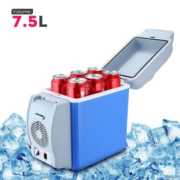 best selling GBT - 3008 7.5L Mini Car Refrigerator Multi-Function Home Travel Vehicular Fridge Dual-use Box Cooler Warmer Temperature Control