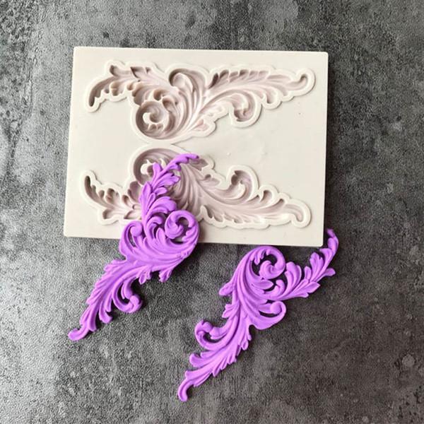 DIY Retro Keys Shape Lace Mold Silicone Fondant Cake Mold Cake Decorating Tool H