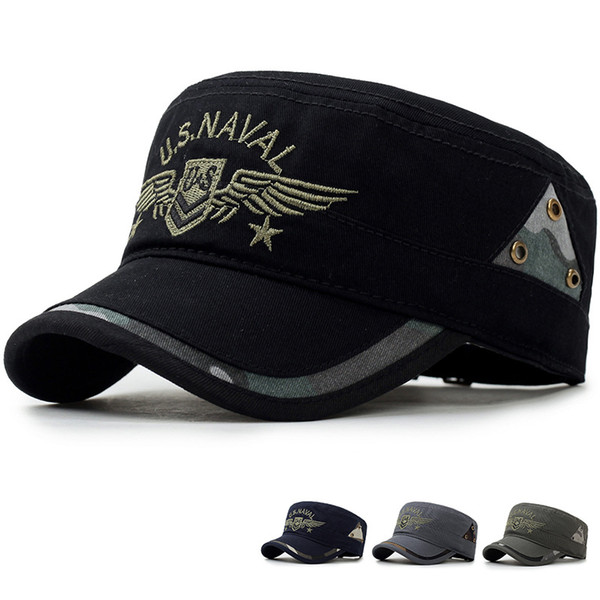 Men's Cap Militar Tactical Army SWAT Snapback Hat Summer Fashion Casual Adjustable Flat Caps Outdoor Hiking Baseball Caps