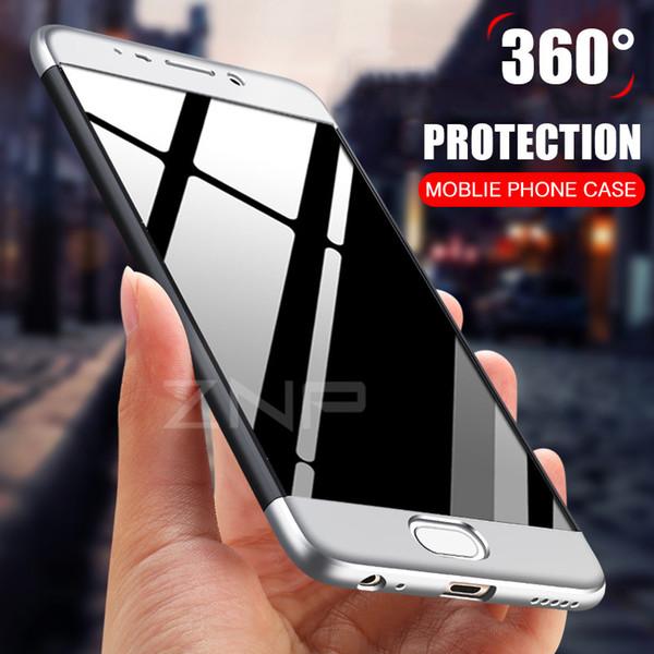 360 grados de protección completa para Meizu M3 M5 Nota de lujo duro mate PC caja del teléfono para Meizu M6 Note bolsa de plástico cubierta del cuerpo