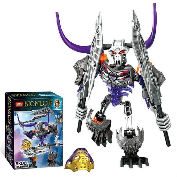 6015 Skeleton Warrior 70793 Bullhorn Warrior BIONICLE Assembly Building blocks Children's Toys