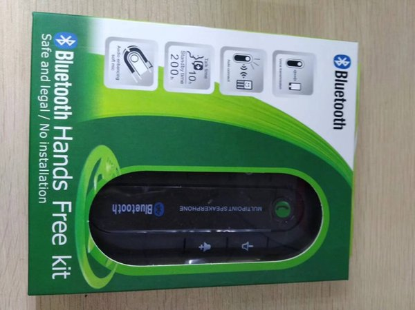 Bluetooth manos libres para automóvil Kit inalámbrico Bluetooth Teléfono con altavoz Reproductor de música MP3 Visera Clip de altavoz Altavoz con cargador de coche