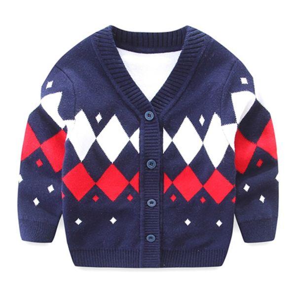 0558182b Newborn Baby Sweater For Boy Cotton Soft Baby Cardigan Long Sleeve V-Neck  Boy Sweater Autumn Knitted Cardigan Boys Clothing