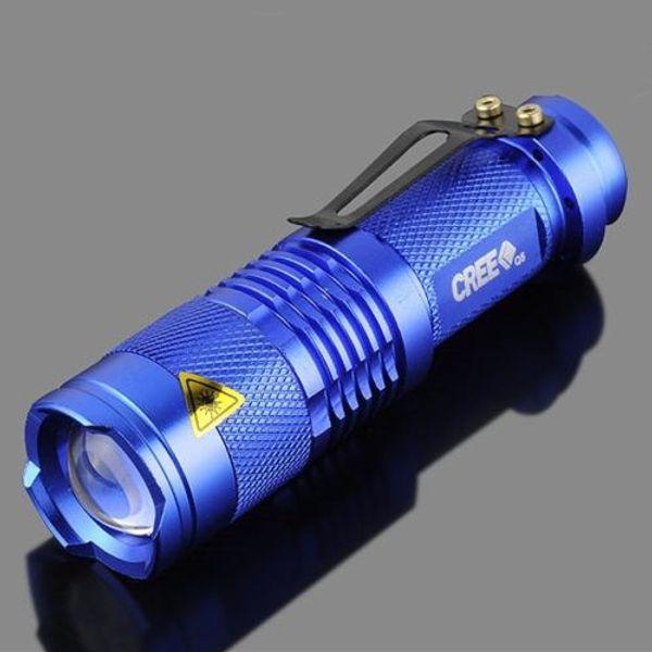 best selling Adjustable Zoom Waterproof Mini Handheld Flashlight XPE Q5 Zoomable 300 Lumen LED Flashlight Torch Lamp AA 14500 Battery