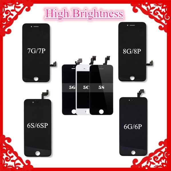 High Brightness Grade AAA+++ (Tianma LCD) For iPhone 5 5S SE 6 6 Plus 6S 7 7 Plus 8 8 Plus LCD Touch Display Screen Digitizer By Fast Ship