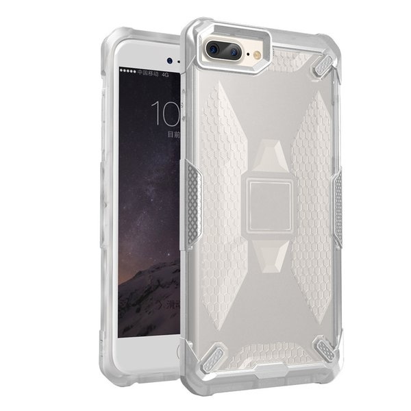 New coming for iphone 8 plus cases shockproof wing soft edge protective robot Case Hybrid pc+tpu defender case