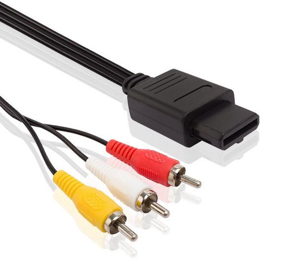Câble de cordon vidéo AV de 180 cm AV TV RCA pour GameCube / pour SNES GameCube / pour Nintendo pour N64 64 Wholesale Store LLFA