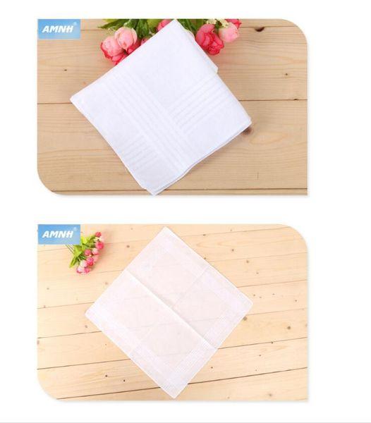 40*40CM White Handkerchief Pure White Handker Chief Pure Color Small Square Cotton Sweat Towel Plain Handker Chief free shipping