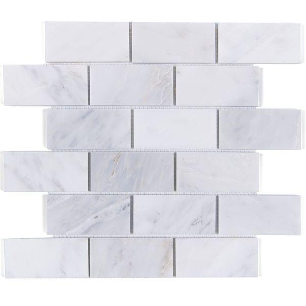 Carreaux de Carrara blanc gris marbre mosaïque Cuisine backsplash salle de bains plancher de pierre de mur de douche à la maison, livraison gratuite, LSMBST01