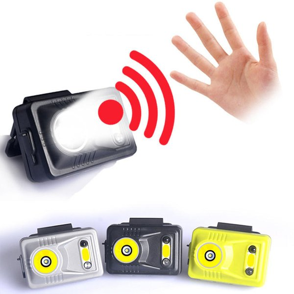 XANES 300LM Sensing Control Headlight Night Fishing Cycling Double Light Source Rechargeable Clip Cap Lamp sensor warning device