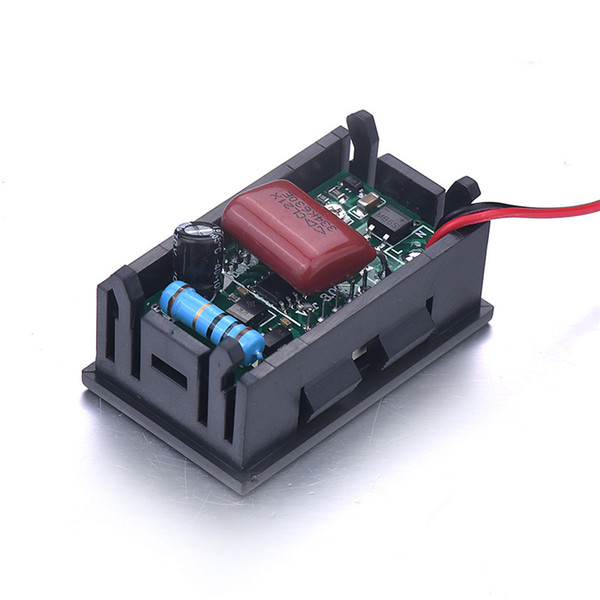 1pc Mini Car Auto Motor LED Digital Voltmeter Ammeter AC 70-500V 0.56 Inch Panel Amp Volt Current Meter Tester