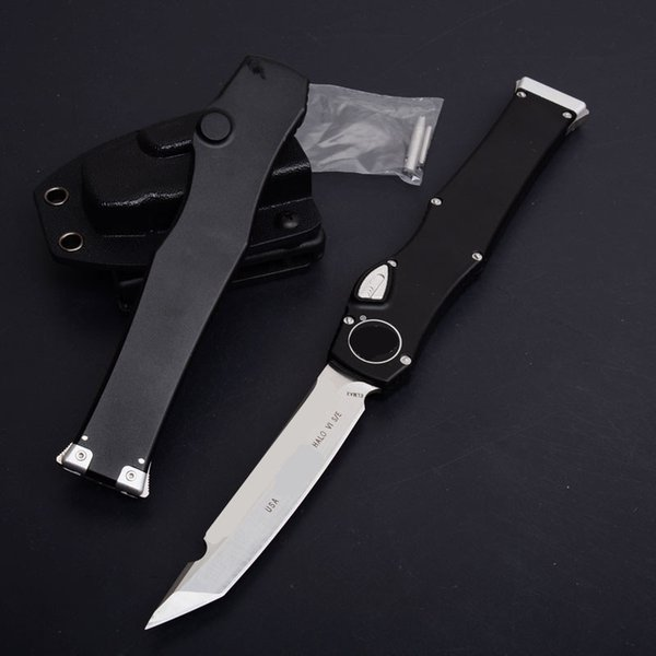 MT VI 6 Tanto poignée en aluminium auto tactique satin simple action équipement de camping poche chasse pliant EDC couteaux avec gaine kydex WL