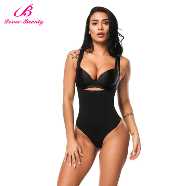 Lover Beauty Women Full Body Shaper Waist Cincher Underbust Thong Corset Bodysuit Jumpsuit Shapewear Seamless Pants Corset C